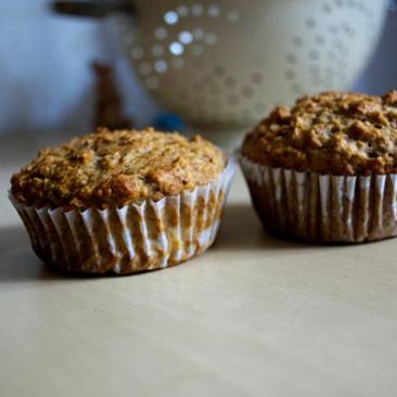 Egészséges és finom: banános-zabpelyhes muffin