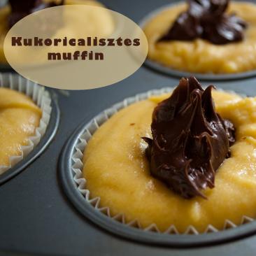 Kukoricalisztes muffin csokival