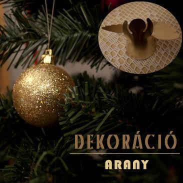 Karácsonyi dekoráció arannyal