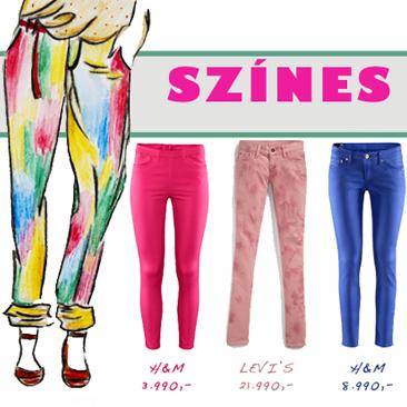 Tavaszi must have: színes nadrágok