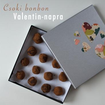 Saját készítésű csoki bonbon Bálint-napra