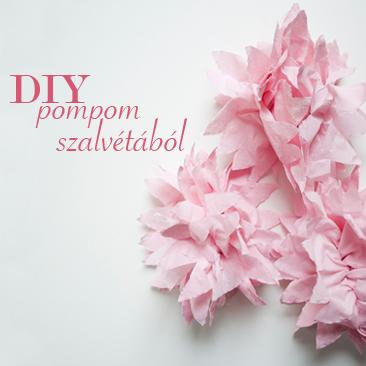 DIY esküvői dekoráció: szalvétából pompom