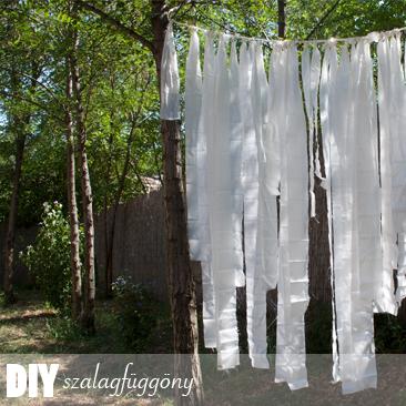 DIY esküvői dekoráció: szalagfüggöny