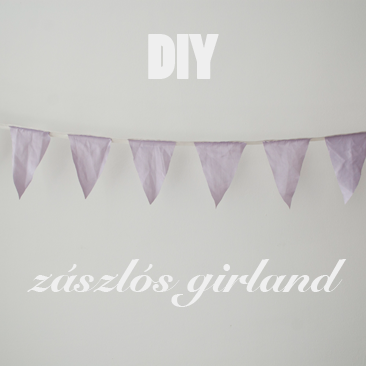 DIY esküvői dekoráció: zászlós girland