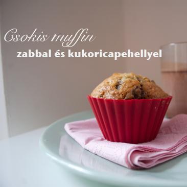 Egészséges csokis muffin zabbal és kukoricapehellyel