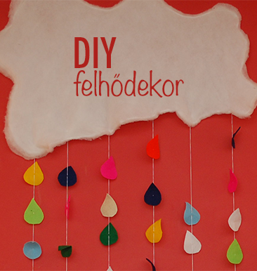 DIY: felhődekoráció gyerekszobába