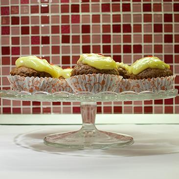 Pudingos muffin: mutatós és egyszerű