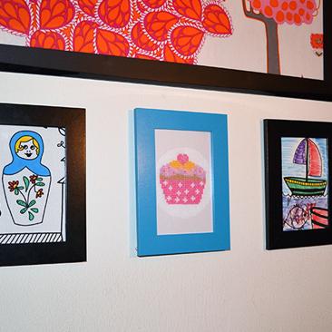 Textilképek a falra