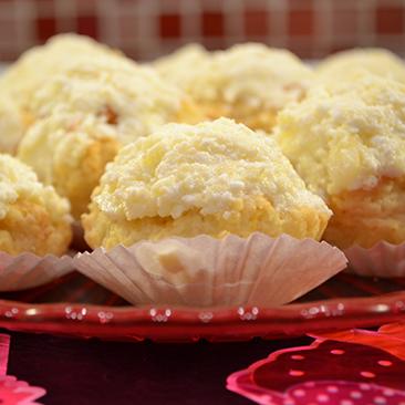 Citromos muffin túrókrémmel