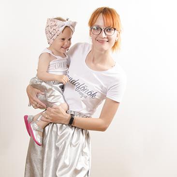 Anya-gyerekek szett DIY pólóval