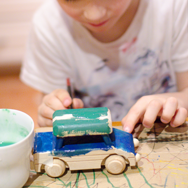Slow parenting: játékfestés